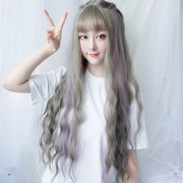 Cute Big Wave Long Roll Wig YC40014