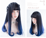 Harajuku Lolita black cos mixed color wig YC20143