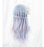Harajuku Lolita blue pink cos mixed color wig YC20146