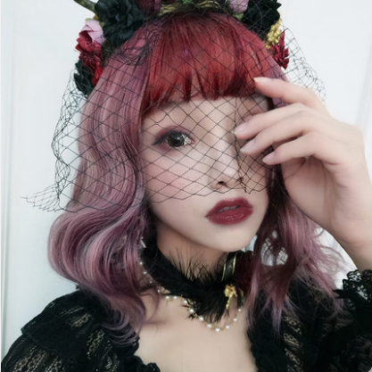 Harajuku lolita COS red purple gradient wig YC20302