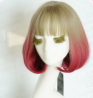 Lolita COS brown red  gradient wig (gift Hair net) YC20307