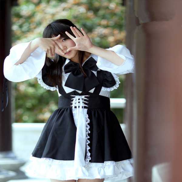 Black and white cosplay maid costume YC20328