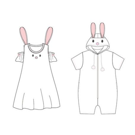 Cute Rabbit Nightdress Pajamas YC20363
