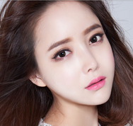 Flower gray contact lens (TWO PIECE)  YC21237
