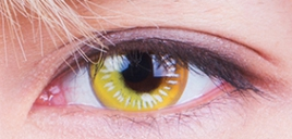 COSplay Yellow(Two piece)Contacts Lens yc20751
