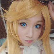 COSplay Flower Blue Contact lens (Two piece) yc21134