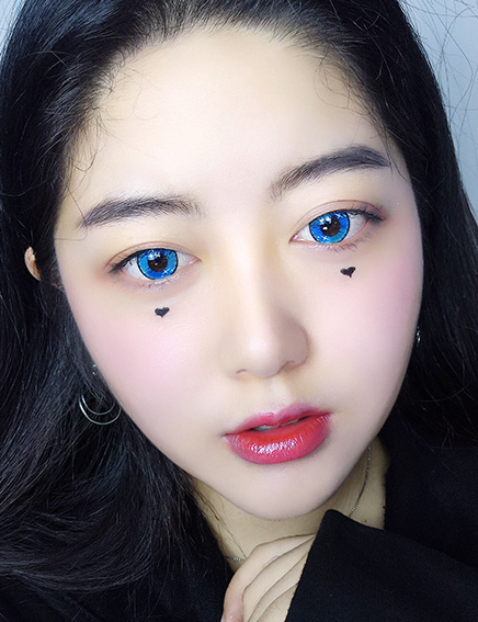 COSplay Colorful Blue(Two piece)Contacts Lens YC20763