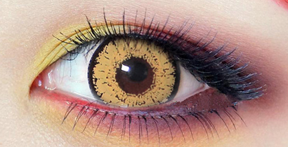 Light yellow contact lens  (TWO PIECE)    YC21312