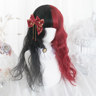 Lolita noodles roll double ponytail wig       YC21415