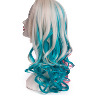 Cosplay suicide squad clown female wig YC21428