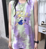 Harajuku Cartoon Sleeveless T-Shirt YC21624