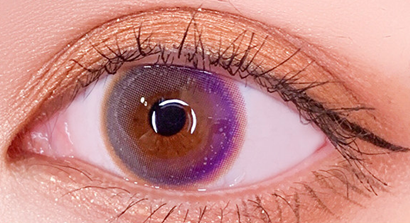 Brownish purple contact lenses (two pieces) YC21709