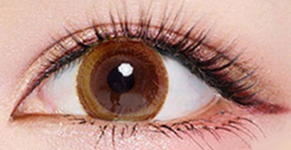 Brown contact lenses (two pieces) YC21776
