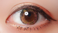 Brown contact lenses (two pieces) YC21807