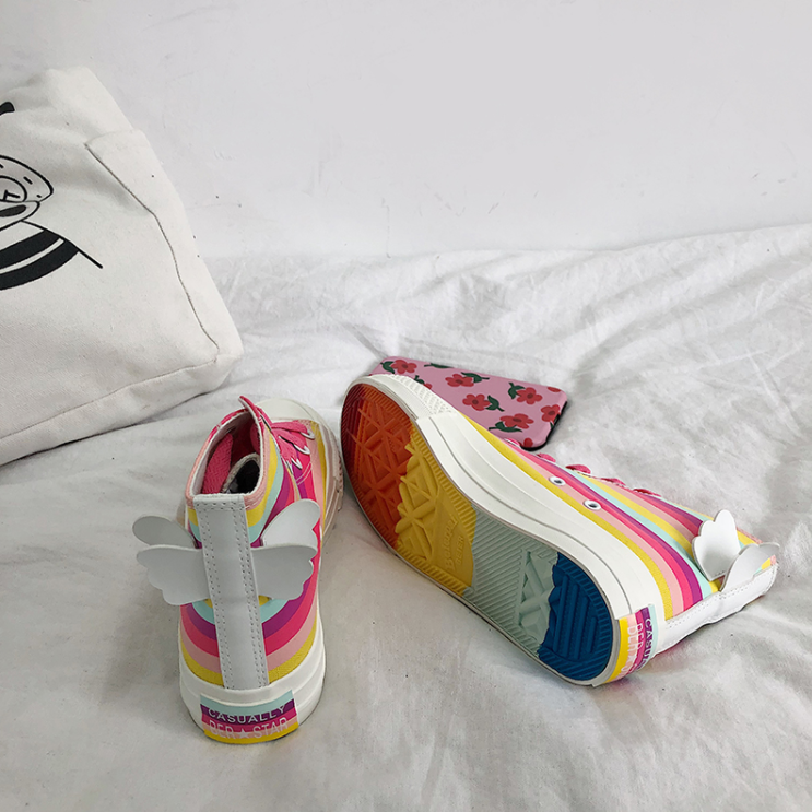 Angel rainbow canvas shoes YC21833