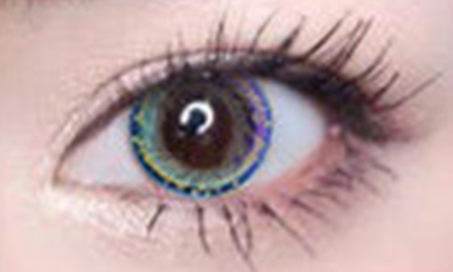 Blue-green contact lens (two pieces) YC21835