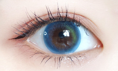 Blue contact lenses (two pieces) YC21842