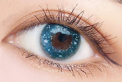 Blue contact lenses (two pieces) YC21882