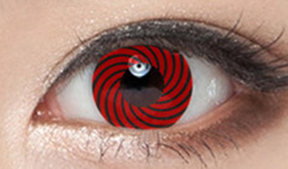 Red and black contact lenses (two pieces) YC21890