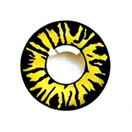 Yellow black contact lenses (two pieces) YC21928