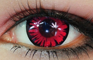 Rose red contact lens (two pieces) YC21949