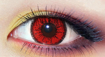 Red contact lenses (two pieces)  YC21967