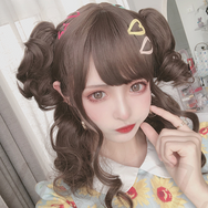 Lolita chocolate color curls + tiger mouth clip YC22001