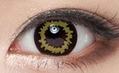 Black and yellow contact lenses (two pieces) YC22020
