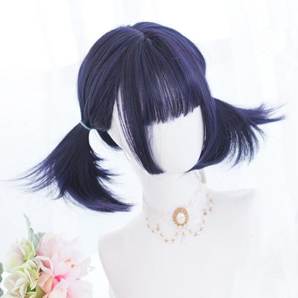 Hime cut mixed color wig YC22034