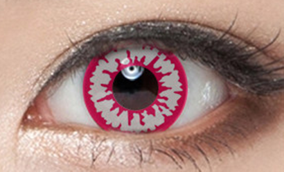Red and white contact lenses (two pieces) YC22039