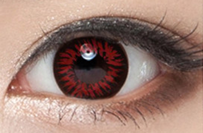 Red and black contact lenses (two pieces) YC22040