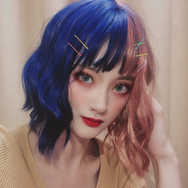 Lolita stitching color wig YC22055