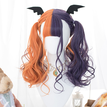 Lolita orange purple wig yc22182