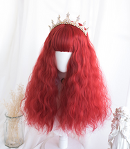Lolita red curly hair wig yc22219