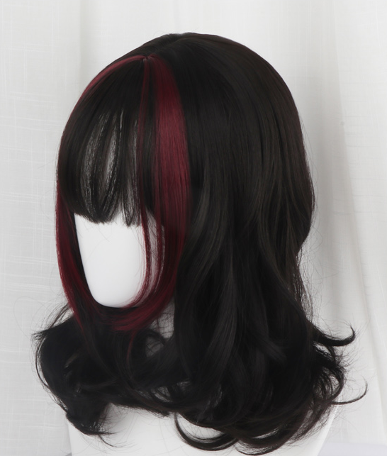 Lolita black red wig yc22247