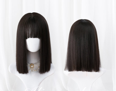 Lolita long straight hair wig yc22251