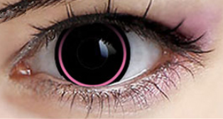 COSplay black pink Contacts Lens(Two Piece) yc22319