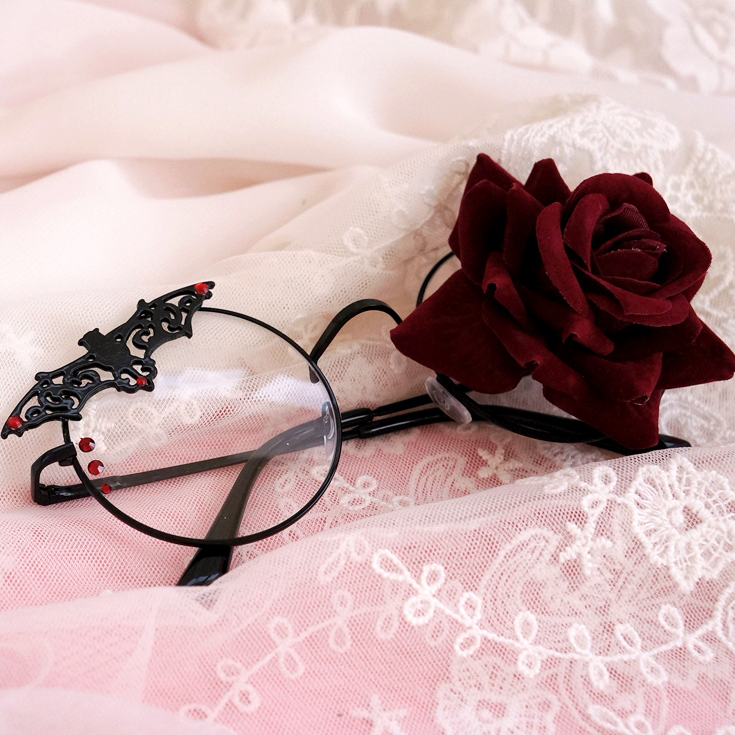Dark punk lolita glasses yc22382