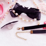 Gothic Little Bat Collar Hair Clip Ring yc22388