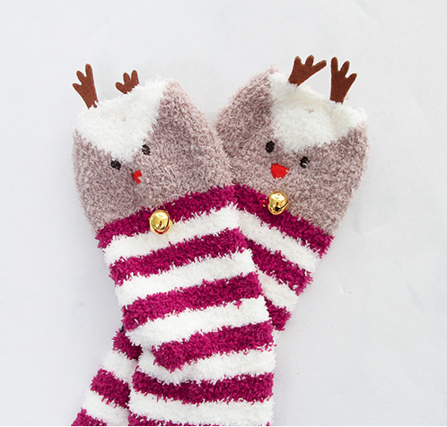 Christmas moose socks yc22483