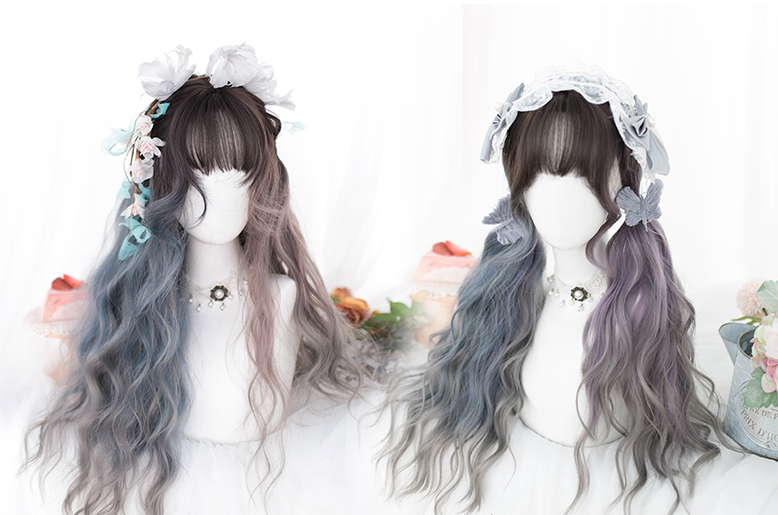 Pre-Sale: lolita gradient curly hair wig yc22553