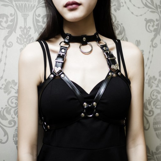 Punk sexy cos strap neck collar yc22744