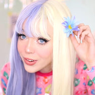 Lolita blue and white wig yc22183