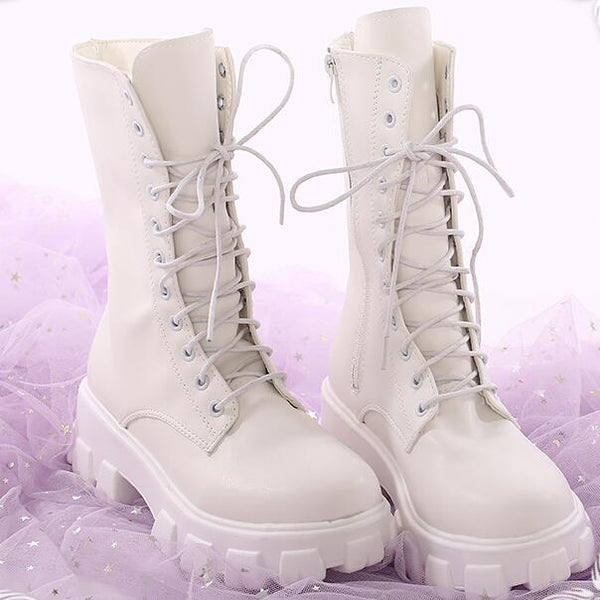 White Martin boots cosplay shoes yc23769