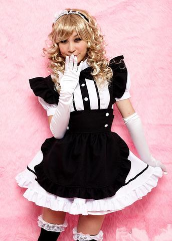 Halloween Cosplay Black Maid Dress YC20068