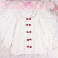 Japanese cute bow shirt yc20590