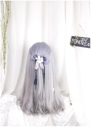 Lolita gray wig (gift Hair net) YC20220