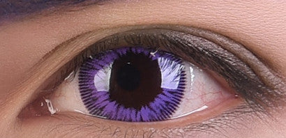 Purple contact lenses (two pieces) YC21899