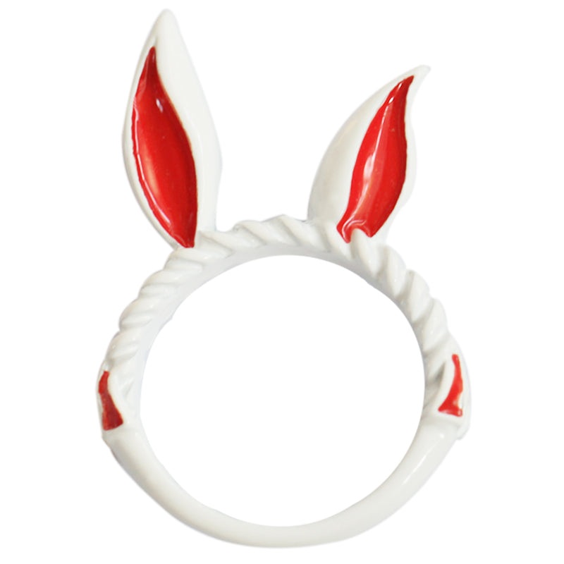 Cute Rabbit Ears Cos Ring Necklace YC20281