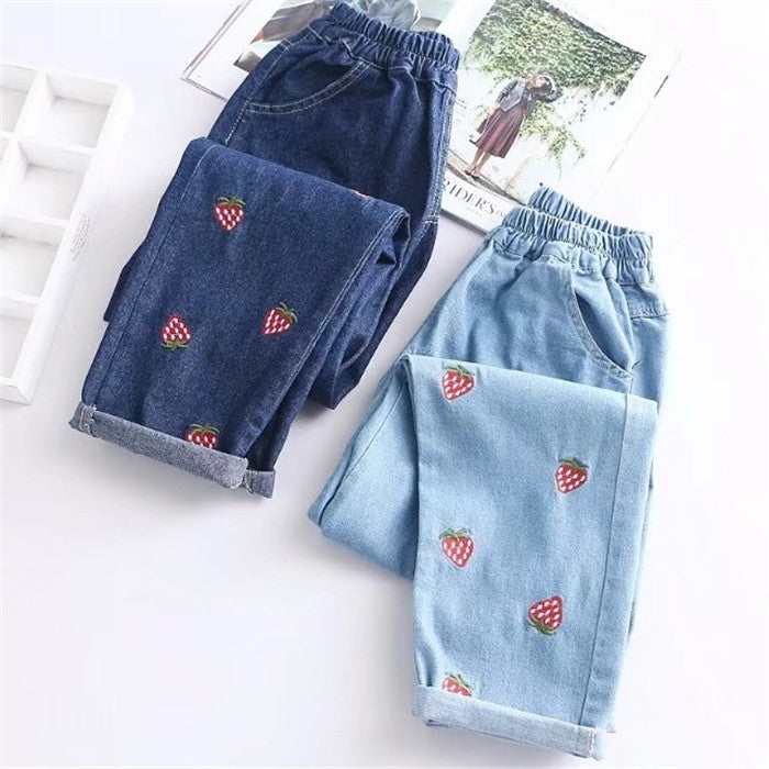 Cute strawberry jeans yc20972